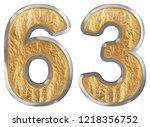 numeral 63  sixty three ... | Shutterstock . vector #1218356752