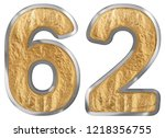 numeral 62  sixty two  isolated ... | Shutterstock . vector #1218356755
