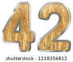 numeral 42  forty two  isolated ...   Shutterstock . vector #1218356812