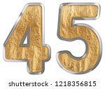 numeral 45  forty five ...   Shutterstock . vector #1218356815