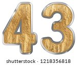 numeral 43  forty three ...   Shutterstock . vector #1218356818