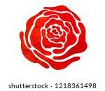 drawing beautiful rose bouquet... | Shutterstock . vector #1218361498