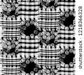 seamless pattern patchwork... | Shutterstock . vector #1218366328