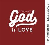 biblical scripture verse from 1 ... | Shutterstock .eps vector #1218366478