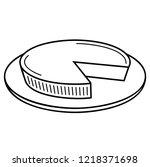 fresh cream cakes   custard... | Shutterstock .eps vector #1218371698