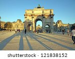 arc de triomphe du carrousel on ... | Shutterstock . vector #121838152