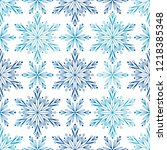 seamless pattern with blue... | Shutterstock .eps vector #1218385348