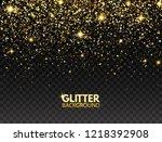glitter background. gold... | Shutterstock .eps vector #1218392908