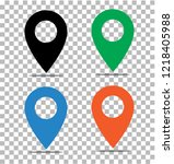 location pin icon on... | Shutterstock .eps vector #1218405988