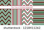 set of four new year or... | Shutterstock .eps vector #1218411262