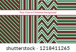 set of four new year or... | Shutterstock .eps vector #1218411265