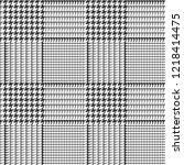 glen plaid seamless vector... | Shutterstock .eps vector #1218414475