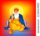 illustration of happy gurpurab  ... | Shutterstock .eps vector #1218414985