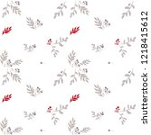 seamless christmas pattern with ... | Shutterstock .eps vector #1218415612