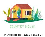 vector hand drawn illustration... | Shutterstock .eps vector #1218416152