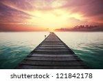 boardwalk on beach | Shutterstock . vector #121842178