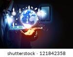 modern wireless technology... | Shutterstock . vector #121842358