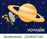 voyager. the spacecraft was...   Shutterstock .eps vector #1218427162