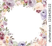watercolor flower background... | Shutterstock . vector #1218428122