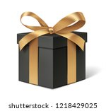 decorative black gift box with... | Shutterstock .eps vector #1218429025