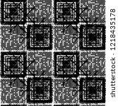 seamless pattern patchwork... | Shutterstock . vector #1218435178