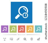 query time flat white icons in... | Shutterstock .eps vector #1218450508