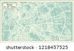 rome italy city map in retro... | Shutterstock .eps vector #1218457525