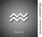 aquarius zodiac white sign wirh ...   Shutterstock .eps vector #1218469168