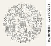 handmade line icons circle....   Shutterstock .eps vector #1218472375