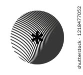 icon symbol asterisk on texture ... | Shutterstock .eps vector #1218477052