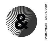 logo letter   lowercase texture ... | Shutterstock .eps vector #1218477085