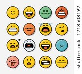 set of emoticons. icon set of... | Shutterstock .eps vector #1218508192