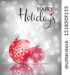 happy holidays greeting card  ... | Shutterstock .eps vector #1218509155