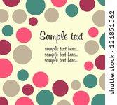 polka dot design frame   Shutterstock .eps vector #121851562