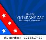 veterans day 11th of november.... | Shutterstock .eps vector #1218517432
