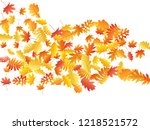 oak  maple  wild ash rowan... | Shutterstock .eps vector #1218521572