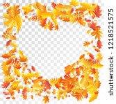 oak  maple  wild ash rowan... | Shutterstock .eps vector #1218521575