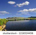 missouri river  wolf creek...   Shutterstock . vector #1218524458