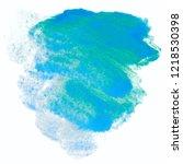 watercolor texture blue | Shutterstock . vector #1218530398