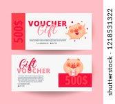 valentine's day voucher with...   Shutterstock .eps vector #1218531322