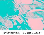 colorful pink and blue paint... | Shutterstock . vector #1218536215