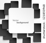 paper square banner with drop... | Shutterstock .eps vector #121853968