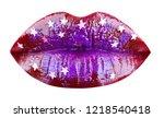 party lips  beautiful makeup ... | Shutterstock . vector #1218540418