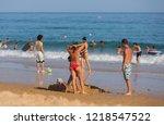 vila do bispo  portugal  ... | Shutterstock . vector #1218547522