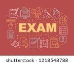 exams word concepts banner....