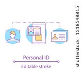 personal id concept icon.... | Shutterstock .eps vector #1218548815