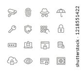 security related icons  thin... | Shutterstock .eps vector #1218551422