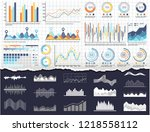 infographic and charts ... | Shutterstock .eps vector #1218558112