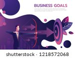 successful businessman hold... | Shutterstock .eps vector #1218572068