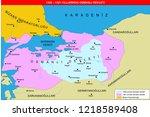 ottoman empire map  1326 61  | Shutterstock .eps vector #1218589408